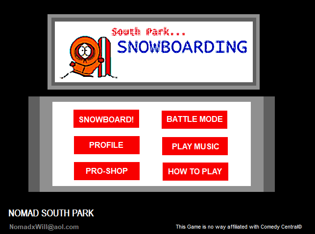 South Park Snowboarding